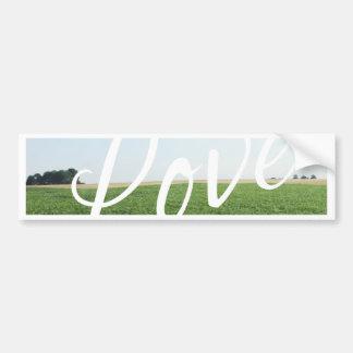 Prado herboso de la naturaleza de la tipografía de pegatina para coche