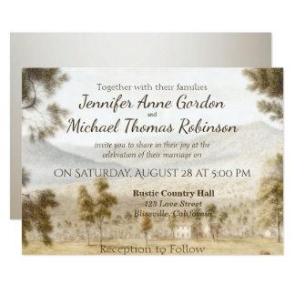 Prado pacífico de la invitación del boda
