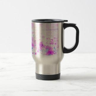 Prado púrpura abstracto de la acuarela taza de viaje