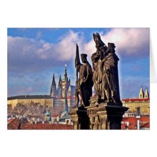 Praga gloriosa tarjeta de felicitación