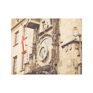 Praga, reloj astronómico de la República Checa Impresión En Lienzo