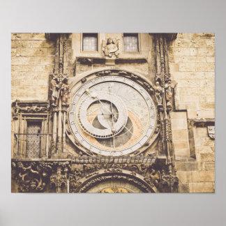 Praga, reloj astronómico de la República Checa Póster