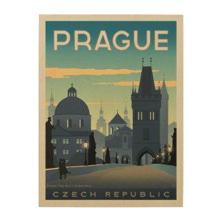 Praga, República Checa Impresión En Madera