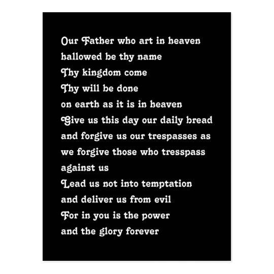 Prayer del señor postal