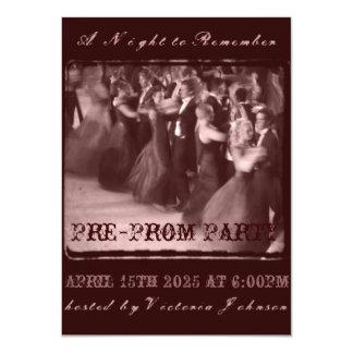Pre-fiesta de la danza de la escuela de la invitación 11,4 x 15,8 cm