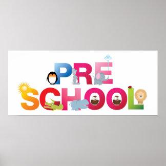 pre palabra de la escuela en letras de la diversió póster