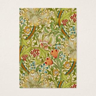 Pre-Raphaelite de oro del vintage del lirio de Tarjeta De Visita