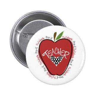 Pre rojo Apple del profesor de K Pins