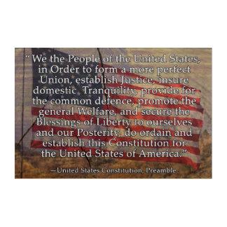 Preámbulo de la constitución de los E.E.U.U. sobre Impresión Acrílica