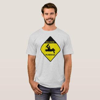 Precaución: Camiseta de la cabeza del ron