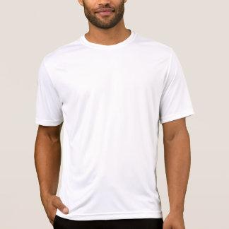 Precaución - corredor en el camino camiseta
