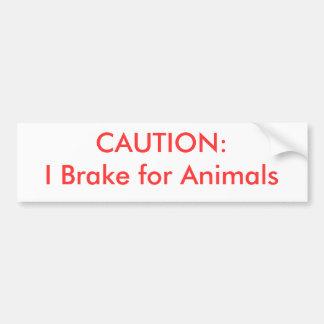 PRECAUCIÓN:  Freno para los animales Etiqueta De Parachoque