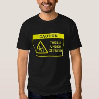 Precaución: Tesis bajo construcción (texto Camisetas