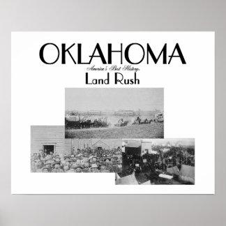 Precipitación de la tierra de ABH Oklahoma Póster