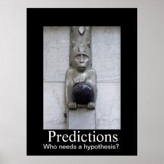 Predicciones - quién necesita una hipótesis póster