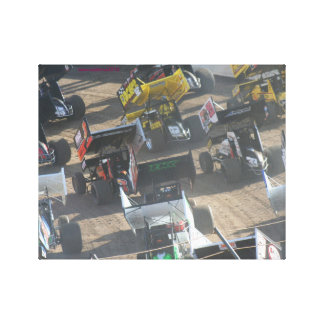 Predominancia del coche de carreras impresión en lienzo
