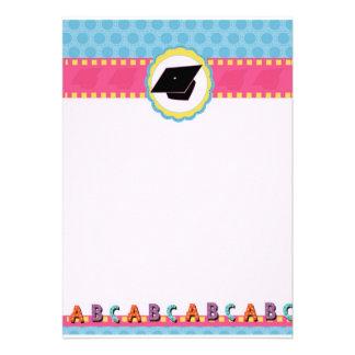 Preescolar caprichoso de los puntos graduación de invitaciones personalizada