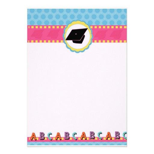 Tarjeta de invitación de graduación preescolar - Imagui