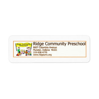 Preescolar de la comunidad de Ridge Etiqueta De Remitente