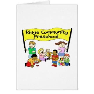 Preescolar de la comunidad de Ridge Tarjeta De Felicitación