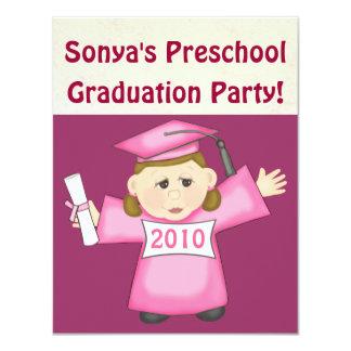 Preescolar de los chicas/fiesta de graduación de invitacion personalizada