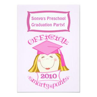 Preescolar de los chicas/fiesta de graduación de invitación 12,7 x 17,8 cm