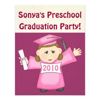 Preescolar de los chicas fiesta de graduación de l invitacion personalizada