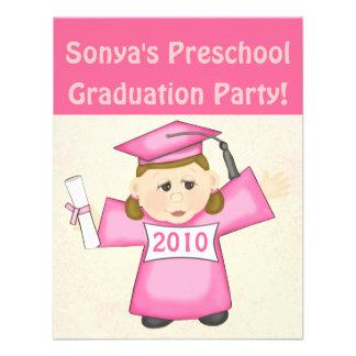 Preescolar de los chicas fiesta de graduación de l anuncio personalizado
