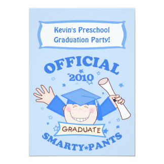 Preescolar de los muchachos/fiesta de graduación invitación 12,7 x 17,8 cm