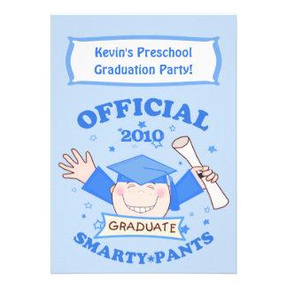 Preescolar de los muchachos fiesta de graduación anuncio personalizado