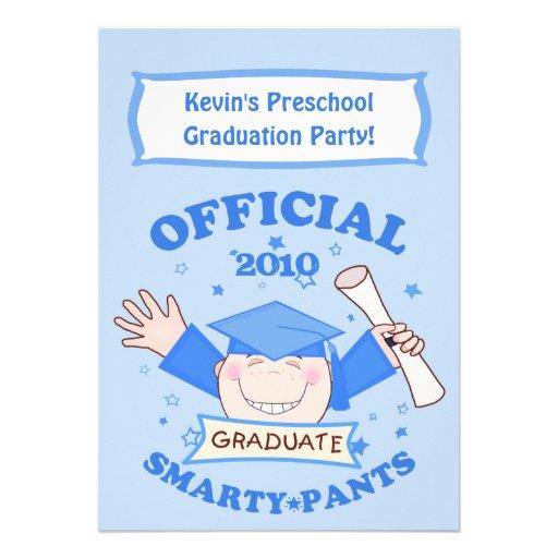 Preescolar de los muchachos/fiesta de graduación anuncio personalizado