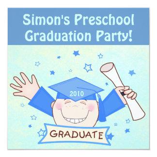 Preescolar de los muchachos/fiesta de graduación invitación 13,3 cm x 13,3cm