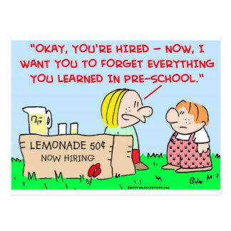 preescolar docto de la limonada tarjetas postales