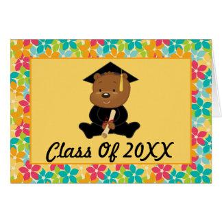 Preescolar o graduación personalizada guardería tarjeta pequeña