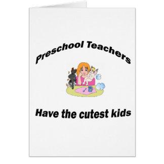 preescolar y niños tarjeton