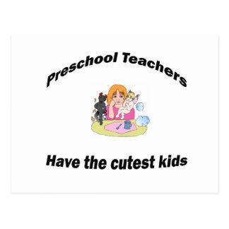 preescolar y niños tarjeta postal