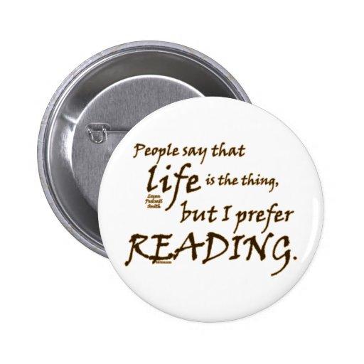 Prefiero el leer pins