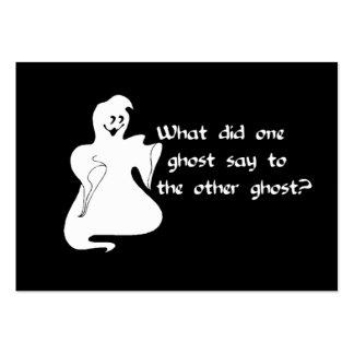 Pregunta del fantasma tarjetas de visita grandes
