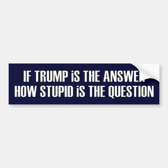 Pregunta divertida para los republicanos del GOP Pegatina Para Coche