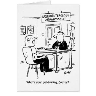Preguntan el doctor cuál es su presentimiento tarjeta de felicitación