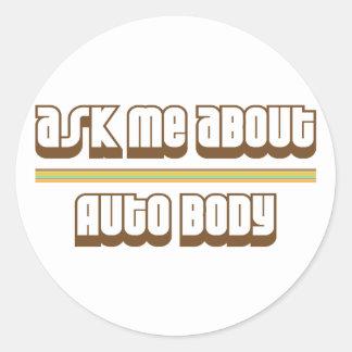 Pregúnteme acerca de cuerpo auto pegatinas redondas