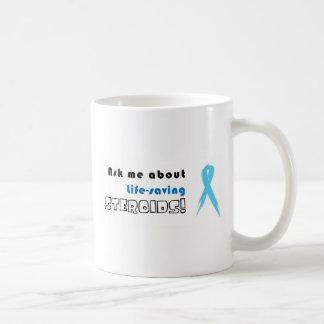 ¡Pregúnteme acerca de los esteroides salvavidas! Taza De Café