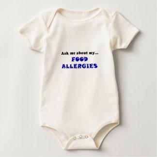 Pregúnteme acerca de mis alergias alimentarias body para bebé