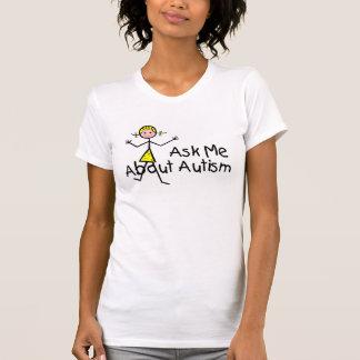 Pregúnteme acerca del autismo (chica 2) camisetas