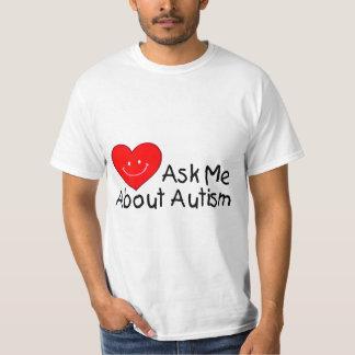 Pregúnteme acerca del autismo (el corazón) camiseta