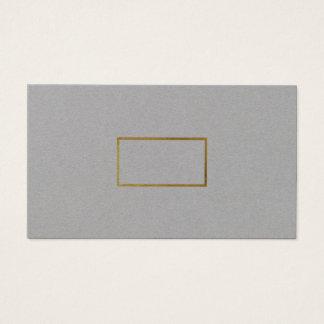 premio gris elegante elegante minimalista tarjeta de visita