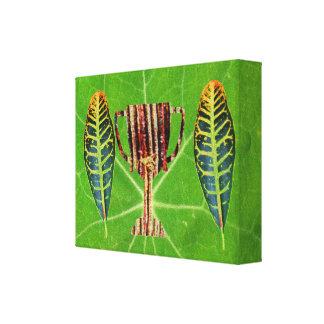Premio verde del tema - arte de la moda impresiones en lona estiradas