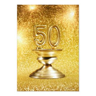 Premios del oro invitacion personalizada
