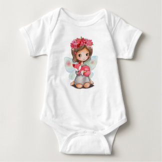 prenda de vestir para bebé Pequeña Hada y zorro Body Para Bebé