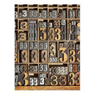 Prensa de copiar 5 postal